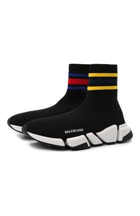 Мужские текстильные кроссовки speed 2.0 BALENCIAGA черного цвета, арт. 674617/W2F60 | Фото 1 (Подошва: Массивная; Материал внешний: Текстиль; Материал внутренний: Текстиль; Стили: Гранж)
