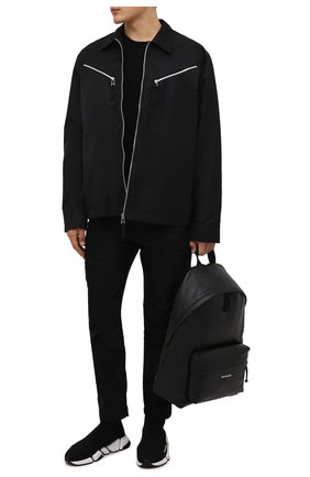 Мужские текстильные кроссовки speed 2.0 BALENCIAGA черного цвета, арт. 674617/W2F60 | Фото 2 (Подошва: Массивная; Материал внешний: Текстиль; Материал внутренний: Текстиль; Стили: Гранж)