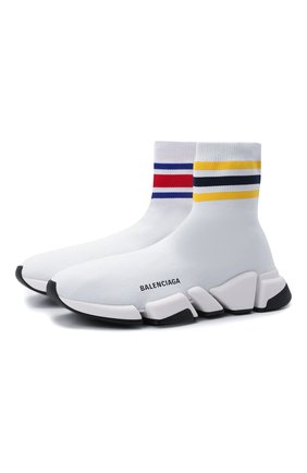 Мужские текстильные кроссовки speed 2.0 BALENCIAGA белого цвета, арт. 674617/W2F60 | Фото 1 (Материал внутренний: Текстиль; Материал внешний: Текстиль; Стили: Гранж; Подошва: Массивная)