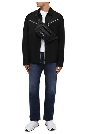 Мужские текстильные кроссовки speed 2.0 BALENCIAGA белого цвета, арт. 674617/W2F60 | Фото 2 (Материал внутренний: Текстиль; Материал внешний: Текстиль; Стили: Гранж; Подошва: Массивная)