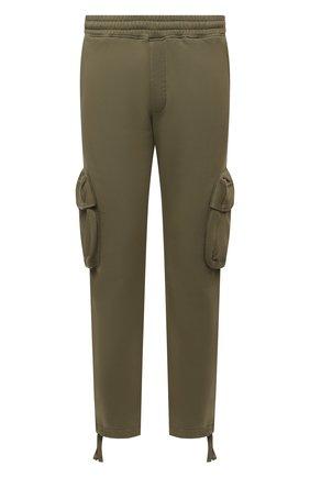 Мужские хлопковые брюки-карго OFF-WHITE хаки цвета, арт. 0MCH036F21FLE004 | Фото 1 (Материал внешний: Хлопок; Мужское Кросс-КТ: Брюки-трикотаж; Силуэт М (брюки): Карго; Стили: Спорт-шик; Длина (брюки, джинсы): Стандартные)