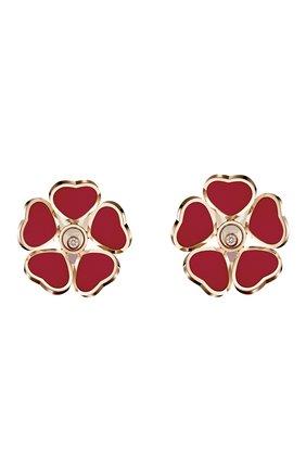 Женские серьги CHOPARD бесцветного цвета, арт. 84A085-5811 | Фото 1 (Драгоценные камни: Бриллианты; Материал сплава: Розовое золото)