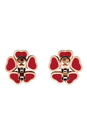 Женские серьги CHOPARD бесцветного цвета, арт. 84A085-5811 | Фото 3 (Драгоценные камни: Бриллианты; Материал сплава: Розовое золото)