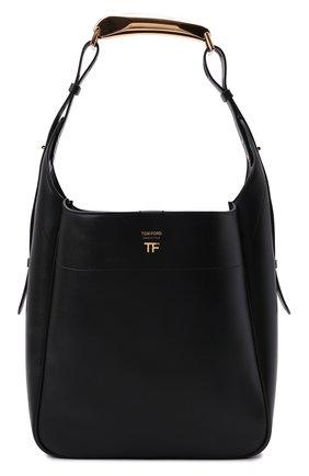 Женская сумка bianca TOM FORD черного цвета, арт. L1490T-LCL203   Фото 1 (Материал: Натуральная кожа; Размер: medium; Сумки-технические: Сумки-шопперы; Ошибки технического описания: Нет ширины)