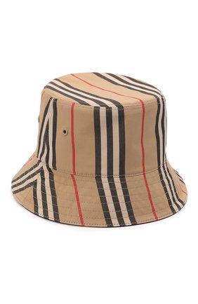 Женская хлопковая панама BURBERRY бежевого цвета, арт. 8039355   Фото 1 (Материал: Текстиль, Хлопок)