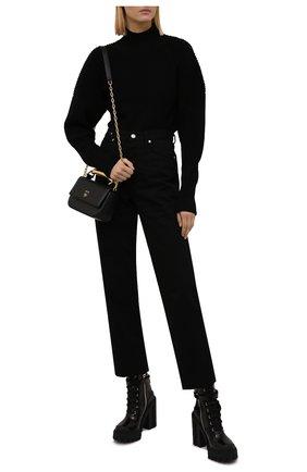 Женские кожаные ботильоны hi trekking DOLCE & GABBANA черного цвета, арт. CT0781/A1203 | Фото 2 (Каблук высота: Высокий; Материал внутренний: Натуральная кожа; Подошва: Платформа; Каблук тип: Устойчивый)