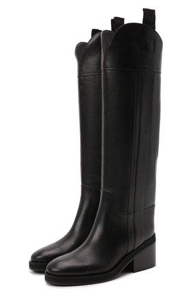 Женские кожаные сапоги tonya 70 JIMMY CHOO черного цвета, арт. T0NYA 70/ZVL   Фото 1 (Каблук высота: Средний; Подошва: Платформа; Высота голенища: Высокие; Материал внутренний: Натуральная кожа; Каблук тип: Устойчивый)