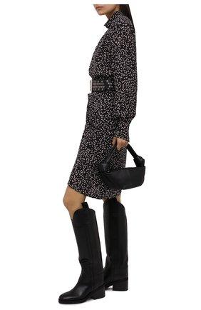 Женские кожаные сапоги tonya 70 JIMMY CHOO черного цвета, арт. T0NYA 70/ZVL   Фото 2 (Каблук высота: Средний; Подошва: Платформа; Высота голенища: Высокие; Материал внутренний: Натуральная кожа; Каблук тип: Устойчивый)