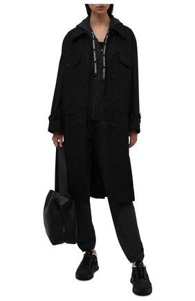 Женские комбинированные кроссовки PREMIATA черного цвета, арт. R0YTRECD/VAR203   Фото 2 (Материал утеплителя: Натуральный мех; Материал внешний: Экокожа; Подошва: Платформа)