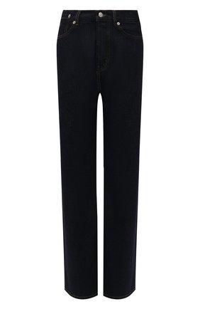 Женские джинсы DRIES VAN NOTEN темно-синего цвета, арт. 212-012410-3373 | Фото 1 (Длина (брюки, джинсы): Стандартные; Материал внешний: Хлопок; Кросс-КТ: Деним; Силуэт Ж (брюки и джинсы): Прямые; Стили: Гранж)