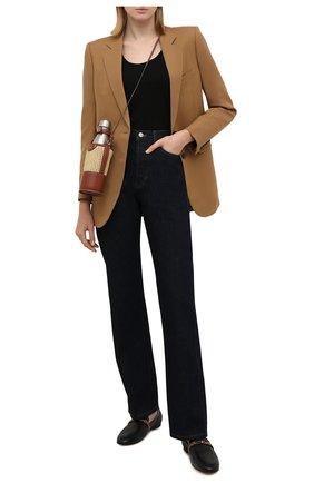 Женские джинсы DRIES VAN NOTEN темно-синего цвета, арт. 212-012410-3373 | Фото 2 (Длина (брюки, джинсы): Стандартные; Материал внешний: Хлопок; Кросс-КТ: Деним; Силуэт Ж (брюки и джинсы): Прямые; Стили: Гранж)