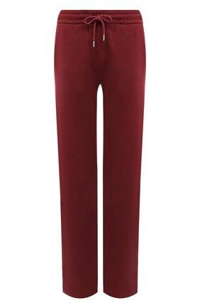 Женские хлопковые брюки DRIES VAN NOTEN бордового цвета, арт. 212-011112-3608 | Фото 1 (Материал внешний: Хлопок; Длина (брюки, джинсы): Стандартные; Женское Кросс-КТ: Брюки-одежда; Стили: Спорт-шик; Силуэт Ж (брюки и джинсы): Прямые)