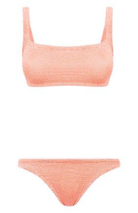 Женский раздельный купальник HUNZA G кораллового цвета, арт. XANDRA BIKINI CRINKLE | Фото 1 (Женское Кросс-КТ: Раздельные купальники; Материал внешний: Синтетический материал)