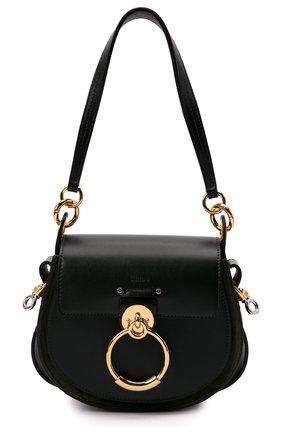 Женская сумка tess small CHLOÉ зеленого цвета, арт. CHC18WS153A37 | Фото 1 (Материал: Натуральная кожа; Сумки-технические: Сумки через плечо; Размер: small; Ремень/цепочка: На ремешке)
