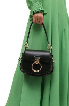 Женская сумка tess small CHLOÉ зеленого цвета, арт. CHC18WS153A37   Фото 2 (Материал: Натуральная кожа; Сумки-технические: Сумки через плечо; Размер: small; Ремень/цепочка: На ремешке)