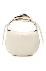 Женская сумка kiss CHLOÉ белого цвета, арт. CHC21US350E48 | Фото 1 (Материал: Натуральная кожа; Сумки-технические: Сумки top-handle, Сумки через плечо; Ремень/цепочка: На ремешке; Размер: mini)