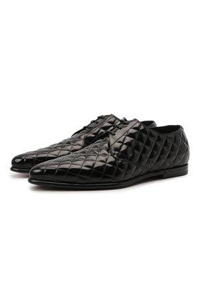 Мужские кожаные дерби copernico DOLCE & GABBANA черного цвета, арт. A10677/A0800 | Фото 1 (Материал внутренний: Натуральная кожа; Стили: Классический)