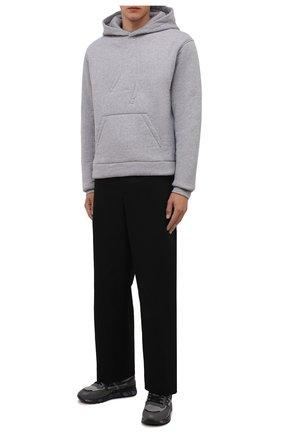 Мужские комбинированные кроссовки django PREMIATA темно-серого цвета, арт. DJANG0/VAR5505 | Фото 2 (Подошва: Массивная; Материал внешний: Текстиль; Материал внутренний: Натуральная кожа)
