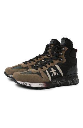 Мужские комбинированные кроссовки jeff PREMIATA разноцветного цвета, арт. JEFF/VAR5511 | Фото 1 (Материал внешний: Текстиль; Подошва: Массивная; Материал утеплителя: Натуральный мех)