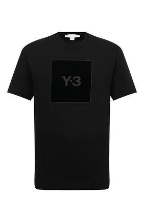Мужская хлопковая футболка Y-3 черного цвета, арт. HB3332/M | Фото 1 (Материал внешний: Хлопок; Длина (для топов): Стандартные; Рукава: Короткие; Принт: С принтом; Стили: Спорт-шик)