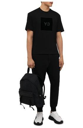 Мужская хлопковая футболка Y-3 черного цвета, арт. HB3332/M | Фото 2 (Материал внешний: Хлопок; Длина (для топов): Стандартные; Рукава: Короткие; Принт: С принтом; Стили: Спорт-шик)