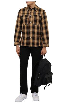 Мужская хлопковая куртка DRIES VAN NOTEN бежевого цвета, арт. 212-020506-3238 | Фото 2 (Длина (верхняя одежда): Короткие; Материал внешний: Хлопок; Рукава: Длинные; Кросс-КТ: Куртка, Ветровка; Стили: Кэжуэл)