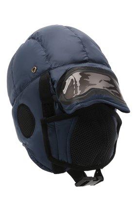 Детского пуховая шапка-ушанка AI RIDERS KIDS темно-синего цвета, арт. AIW1/LK528B/TKJ8 | Фото 1 (Материал: Текстиль, Синтетический материал)