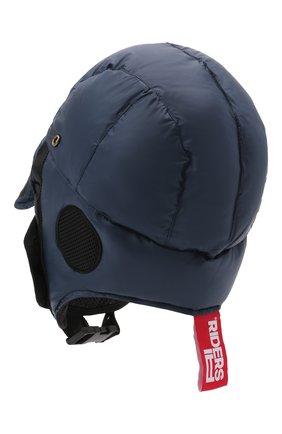 Детского пуховая шапка-ушанка AI RIDERS KIDS темно-синего цвета, арт. AIW1/LK528B/TKJ8 | Фото 2 (Материал: Текстиль, Синтетический материал)
