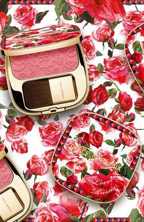 Румяна с эффектом сияния blush of roses dg loves russia, 200 provocative (5g) DOLCE & GABBANA бесцветного цвета, арт. 30701092DG   Фото 3