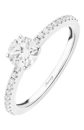 Женские кольцо MERCURY бесцветного цвета, арт. MR050WRDD | Фото 1 (Драгоценные камни: Бриллианты; Материал сплава: Белое золото)