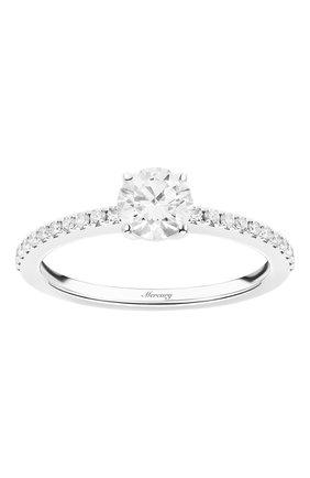 Женские кольцо MERCURY бесцветного цвета, арт. MR050WRDD | Фото 2 (Драгоценные камни: Бриллианты; Материал сплава: Белое золото)
