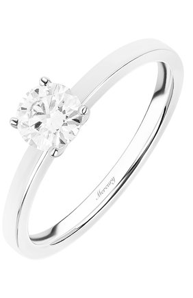Женские кольцо MERCURY бесцветного цвета, арт. MR050WRD_1 | Фото 1 (Драгоценные камни: Бриллианты; Материал сплава: Белое золото)