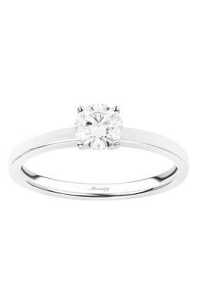 Женские кольцо MERCURY бесцветного цвета, арт. MR050WRD_1 | Фото 2 (Драгоценные камни: Бриллианты; Материал сплава: Белое золото)