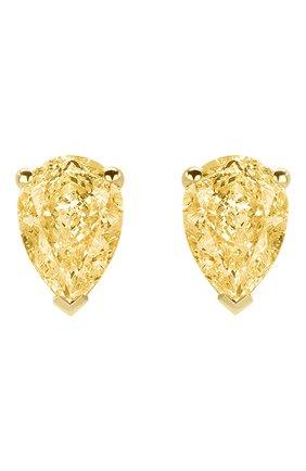 Женские серьги MERCURY бесцветного цвета, арт. ME100YYPD | Фото 1 (Драгоценные камни: Бриллианты; Материал сплава: Желтое золото)