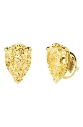 Женские серьги MERCURY бесцветного цвета, арт. ME100YYPD | Фото 2 (Драгоценные камни: Бриллианты; Материал сплава: Желтое золото)