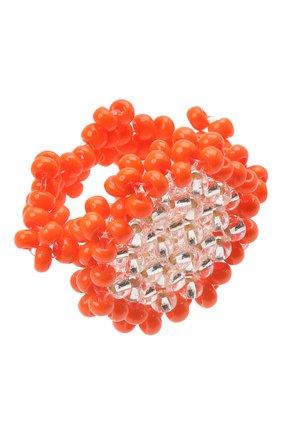 Женское кольцо камень l HIAYNDERFYT оранжевого цвета, арт. 1-1OTRCKsm | Фото 1 (Материал: Стекло)
