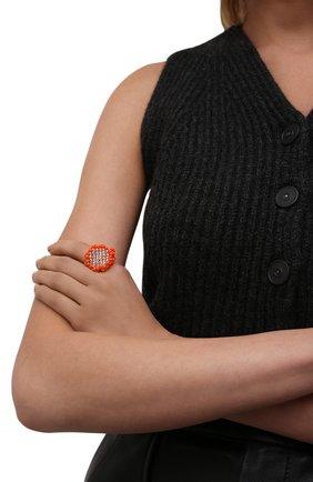 Женское кольцо камень l HIAYNDERFYT оранжевого цвета, арт. 1-1OTRCKsm | Фото 2 (Материал: Стекло)
