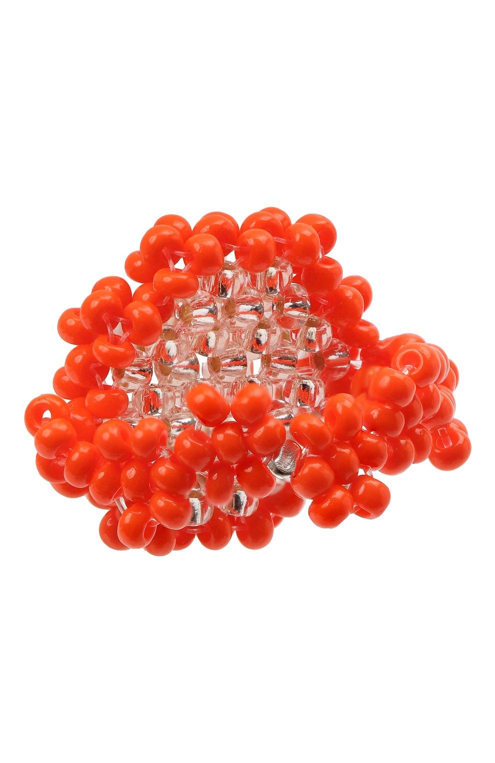 Женское кольцо камень l HIAYNDERFYT оранжевого цвета, арт. 1-1OTRCKsm | Фото 3 (Материал: Стекло)