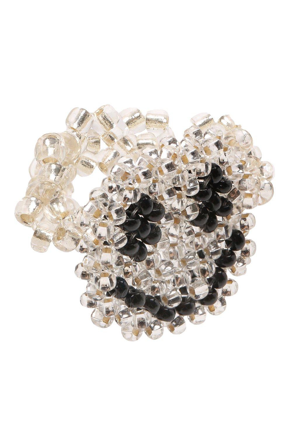 Женское кольцо смайл HIAYNDERFYT прозрачного цвета, арт. 1-1TTSM | Фото 1 (Материал: Стекло)