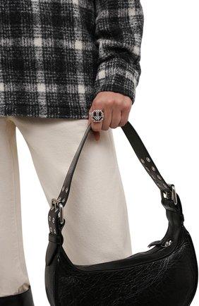 Женское кольцо смайл HIAYNDERFYT прозрачного цвета, арт. 1-1TTSM | Фото 2 (Материал: Стекло)