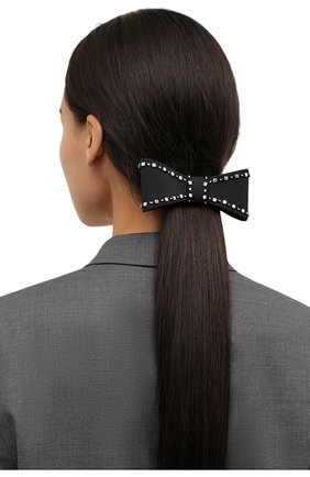 Женская бант PANFIL черного цвета, арт. Бант 0-T3-Sil   Фото 2 (Материал: Текстиль, Шелк)