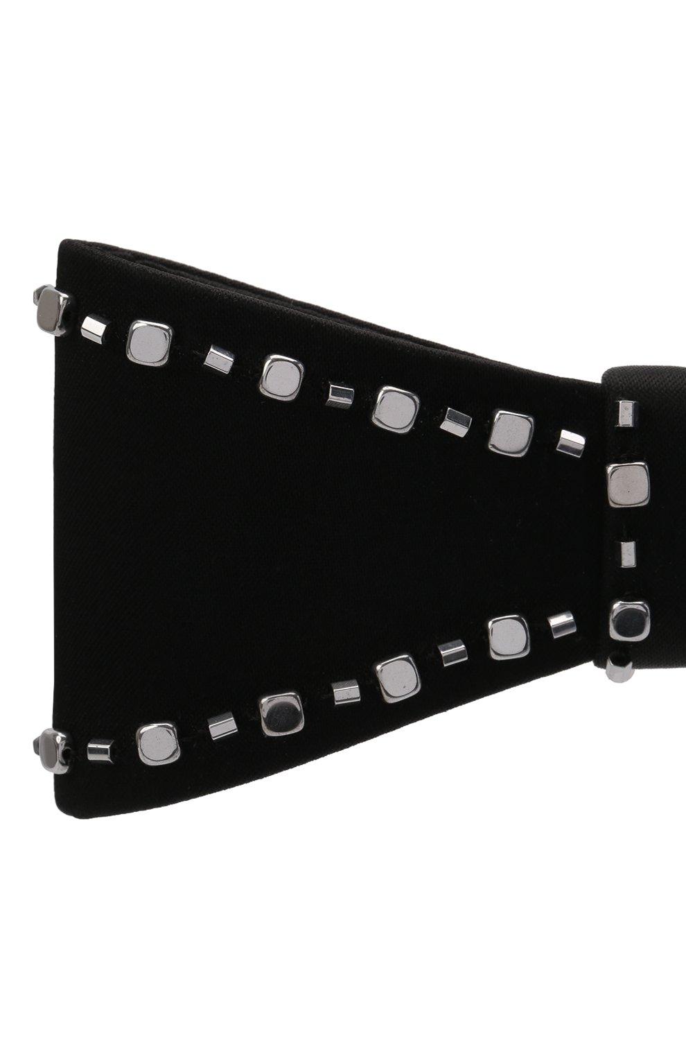 Женская бант PANFIL черного цвета, арт. Бант 0-T3-Sil   Фото 4 (Материал: Текстиль, Шелк)