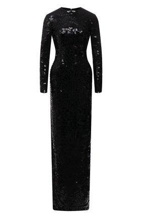 Женское платье TOM FORD черного цвета, арт. AB3007-SDE212 | Фото 1 (Материал подклада: Шелк; Рукава: Длинные; Материал внешний: Синтетический материал; Длина Ж (юбки, платья, шорты): Макси; Стили: Гламурный; Случай: Вечерний; Женское Кросс-КТ: Платье-одежда, платье-футляр)