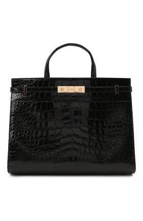 Женская сумка manhattan small SAINT LAURENT черного цвета, арт. 568702/E5V0K/AMIS | Фото 1 (Ремень/цепочка: На ремешке; Размер: small; Сумки-технические: Сумки top-handle)