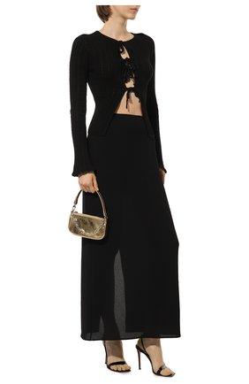 Женские кожаные босоножки stiletto 105 GIANVITO ROSSI черного цвета, арт. G32088.15RIC.VERNER0 | Фото 2 (Материал внутренний: Натуральная кожа; Каблук высота: Высокий; Подошва: Плоская; Каблук тип: Шпилька)