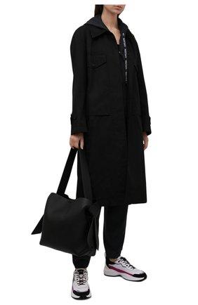 Женские кожаные кроссовки shegoes VALENTINO белого цвета, арт. WW2S0AB1/MUC | Фото 2 (Материал внутренний: Текстиль; Подошва: Массивная, Платформа)