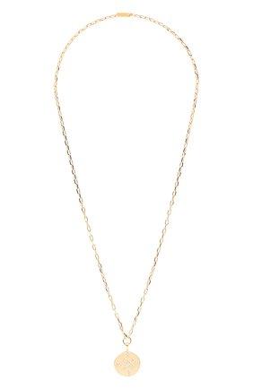 Женская кулон на цепочке HANKA_IN золотого цвета, арт. JET-C0BR3T-STA | Фото 1 (Материал: Металл)