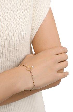 Женский браслет HANKA_IN золотого цвета, арт. MER-BR-Z0I-G0PA | Фото 2 (Материал: Металл)