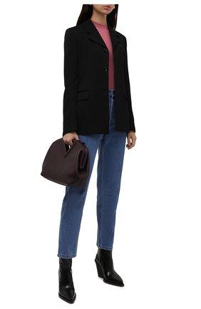 Женский кашемировый пуловер LORO PIANA розового цвета, арт. FAI4920 | Фото 2 (Материал внешний: Кашемир, Шерсть; Стили: Кэжуэл; Рукава: 3/4; Длина (для топов): Стандартные; Женское Кросс-КТ: Пуловер-одежда)