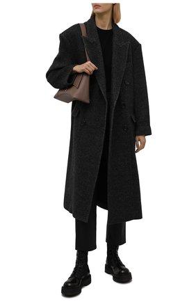 Женские кожаные ботинки PREMIATA черного цвета, арт. M4973/VARIANTE 19+M0NT0NE   Фото 2 (Каблук высота: Низкий; Подошва: Платформа; Материал утеплителя: Натуральный мех; Женское Кросс-КТ: Военные ботинки)